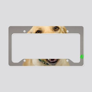 Yellow Lab Yum Birthday Card License Plate Holder