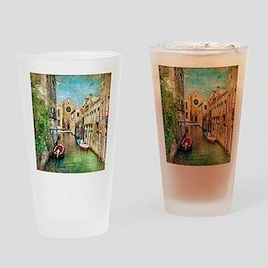 Vintage Venice Photo Drinking Glass