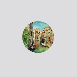 Vintage Venice Photo Mini Button