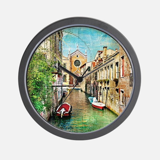 Vintage Venice Photo Wall Clock