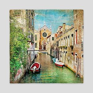 Vintage Venice Photo Queen Duvet