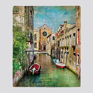 Vintage Venice Photo Throw Blanket