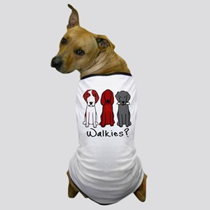 Walkies? (Three dogs) Dog T-Shirt