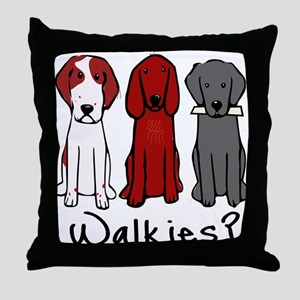 Walkies? (Three dogs) Throw Pillow