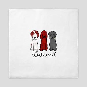 Walkies? (Three dogs) Queen Duvet