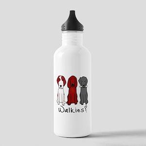 Walkies? (Three dogs) Water Bottle