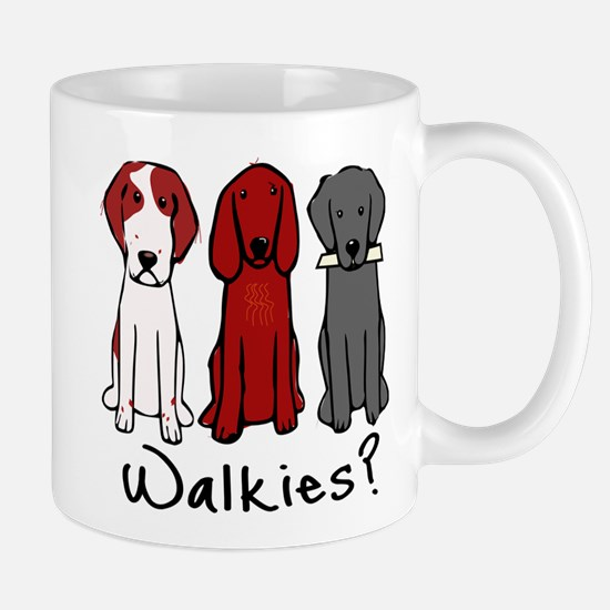 Walkies? (Three dogs) Mugs