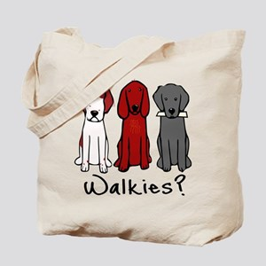 Walkies? (Three dogs) Tote Bag