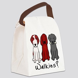 Walkies? (Three dogs) Canvas Lunch Bag