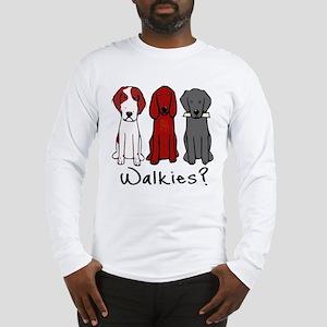 Walkies? (Three dogs) Long Sleeve T-Shirt