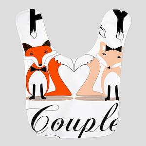 Foxy Couple Polyester Baby Bib