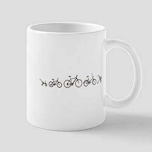 Bicycle Evolution Shirt Mugs