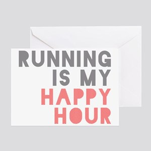 Running Is My Happy Hour Greeting Card