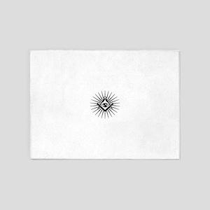 Masonic symbol, all seeing eye, fre 5'x7'Area Rug