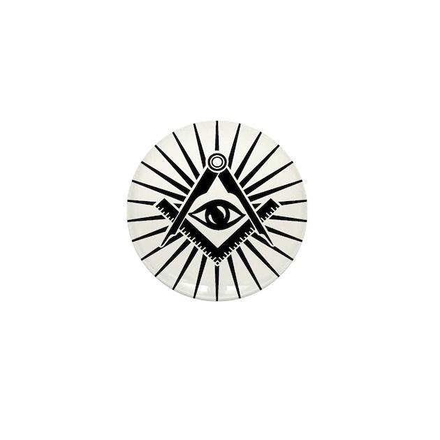 Masonic Symbol All Seeing Eye Freema Mini Button By Admincp140162797
