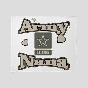 Army Nana Throw Blanket