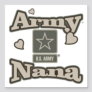 "Army Nana Square Car Magnet 3"" x 3"""