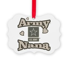 Army Nana Picture Ornament