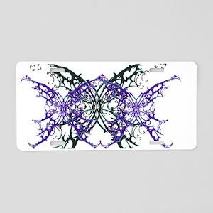 SPIKE BUTTERFLIESX3 Aluminum License Plate
