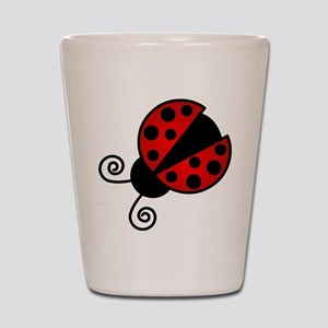 Red Ladybug 1 Shot Glass