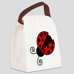 Red Ladybug 1 Canvas Lunch Bag
