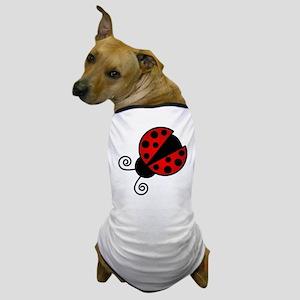 Red Ladybug 1 Dog T-Shirt