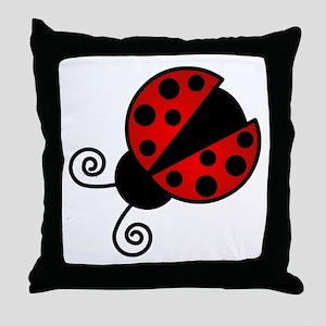 Red Ladybug 1 Throw Pillow