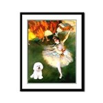 Ballet Dancer & Bichon Framed Panel Print
