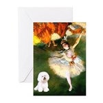 Ballet Dancer & Bichon Greeting Cards (Pk of 10)