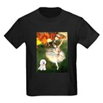 Ballet Dancer & Bichon Kids Dark T-Shirt