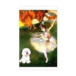 Ballet Dancer & Bichon Sticker (Rectangle)