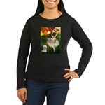 Ballet Dancer & Bichon Women's Long Sleeve Dark T-