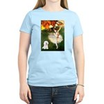 Ballet Dancer & Bichon Women's Light T-Shirt
