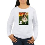 Ballet Dancer & Bichon Women's Long Sleeve T-Shirt