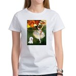 Ballet Dancer & Bichon Women's T-Shirt
