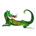 Flamin' Green Dragon Postcards (Package of 8)
