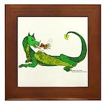 Flamin' Green Dragon Framed Tile