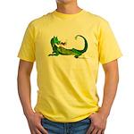 Flamin' Green Dragon Yellow T-Shirt