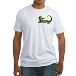 Flamin' Green Dragon Fitted T-Shirt