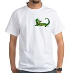 Flamin' Green Dragon White T-Shirt