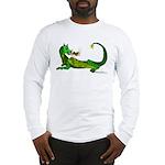 Flamin' Green Dragon Long Sleeve T-Shirt