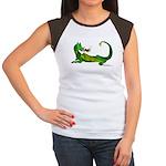Flamin' Green Dragon Women's Cap Sleeve T-Shirt
