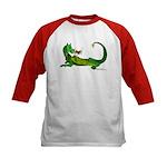 Flamin' Green Dragon Kids Baseball Jersey