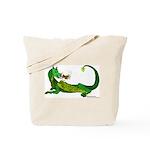 Flamin' Green Dragon Tote Bag