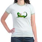 Flamin' Green Dragon Jr. Ringer T-Shirt