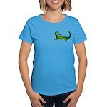 Flamin' Green Dragon Women's Dark T-Shirt