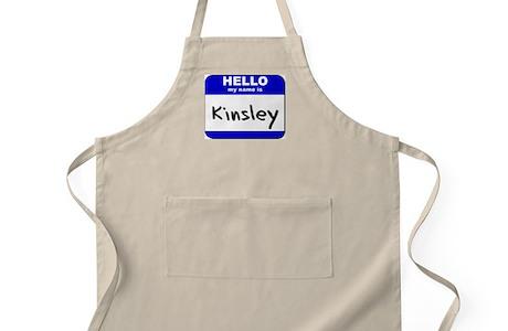 Hello My Name Is Kinsley Bbq Apron