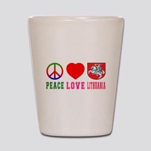 Peace Love Lithuania Shot Glass