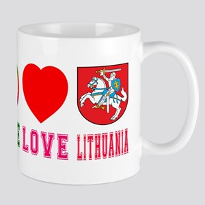 Peace Love Lithuania Mug