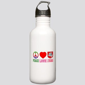 Peace Love Lithuania Stainless Water Bottle 1.0L